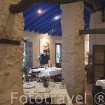 Interior del restaurante La Puerta Falsa. VILLANUEVA DE CORDOBA. Comarca de Los Pedroches. Cordoba. España