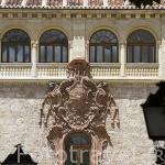 Fachada renacentista obra de Covarrubias de la plaza de Armas. Palacio Arzobisbal. ALCALA DE HENARES. Ciudad patrimonio Unesco. Madrid. España