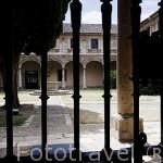Patio Trilingue San Jeronimo. El mejor conjunto Universitario del renacimiento en Europa. ALCALA DE HENARES. Ciudad patrimonio Unesco. Madrid. España