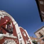 Fachada del teatro Salon Cervantes. ALCALA DE HENARES. Ciudad patrimonio Unesco. España