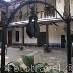 Interior del hospital de Antezana, fundado en 1483 por Luis de Antezana, en funcionando desde entonces. Estilo mudejar. ALCALA DE HENARES. Ciudad patrimonio Unesco. Madrid. España