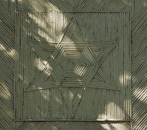 Detalle. Casa de Cañas. Jardin historico artistico (s. XVIII) El Capricho. Madrid capital. España
