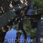 Bateria o Fortin. Jardin historico artistico (s. XVIII) El Capricho. Madrid capital. España