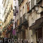 Calle Barcelona. Zona de Huertas. Madrid capital. España