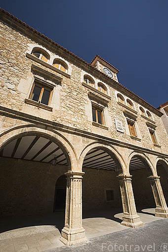 Ayuntamiento del pueblo de CELLA. Teruel. España