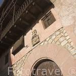 Fachada de una casa nobiliaria. ALBARRACIN.Teruel. España