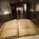 Libro con el Fuero de Albarracin, S.XIII. Museo de Albarracin. ALBARRACIN. Teruel . España