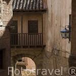 Casco historico y viviendas. Pueblo de ALBARRACIN. Teruel. España