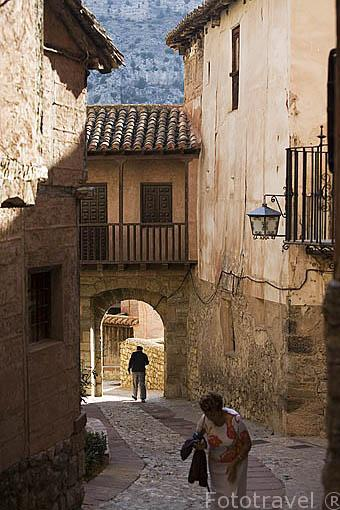 Casco historico. Pueblo de ALBARRACIN. Teruel. España