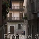 Calle en el casco historico del pueblo de ALBARRACIN. Teruel. España