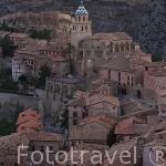 Pueblo de ALBARRACIN desde lo alto de las murallas. Teruel. España