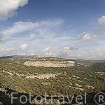 Vista panoramica de la sierra de Nogueruelas cerca de la población de LINARES DE MORA. Teruel. España