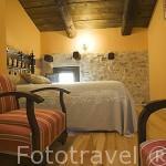 Habitación. Hotel rural Casa Valero. JARQUE DE LA VAL. Teruel. España