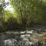 Rio Guadalaviar. Discurre cerca del pueblo de Albarracin. Teruel. España