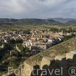 Vista panoramica del pueblo de RUBIELOS DE MORA. Comarca de GUDAR / JAVALAMBRE. Teruel. España