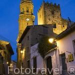 El pueblo de la IGLESUELA DEL CID desde la calle de San Pablo. En pueblo fue 1982 declarado Conjunto Histórico-Artístico.El Maestrazgo. Teruel. España