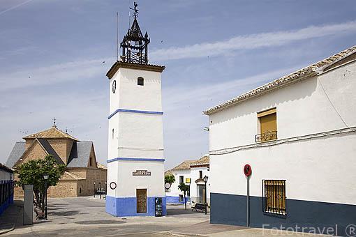 Torre del reloj municipal de 1911. CAMUÑAS. Toledo. Castilla La Mancha. España - Spain