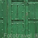 Detalle de una puerta en MADRIDEJOS. Provincia de Toledo. Castilla La Mancha. España - Spain