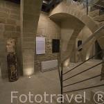 Interior del edificio de la Fundacion Uncastillo con exposiciones varias. Pueblo de UNCASTILLO. Zaragoza. Aragon. España