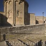 Abside de la iglesia de San Martin, s,XII. Pueblo de UNCASTILLO. Zaragoza. Aragon. España