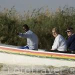Turistas realizando una visita. Parque nacional DJOUDJ, (El tercero mas grande del mundo). Norte de SENEGAL