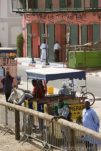 La ciudad de SAINT LOUIS. Rio Senegal. Norte de Senegal